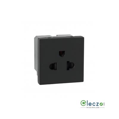 Legrand Myrius Euro Socket 6/16 A, 2 Module, Black