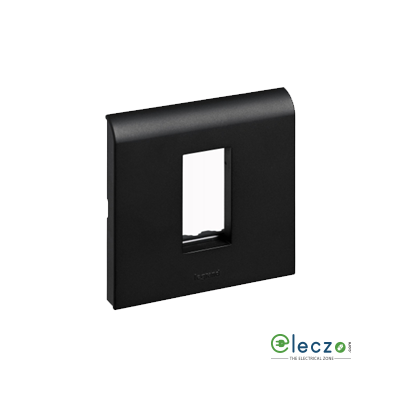 Legrand Myrius PVC Cover Plate 1 Module, Black, With Support Frame