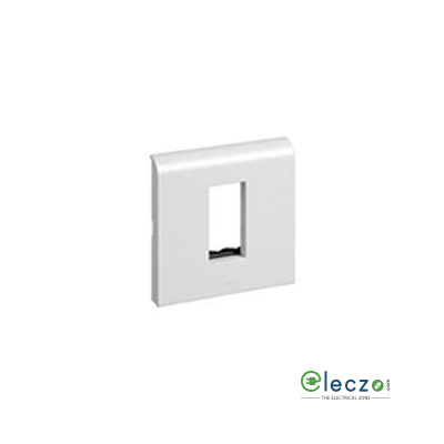 Legrand Myrius PVC Cover Plate 1 Module, White, With Support Frame