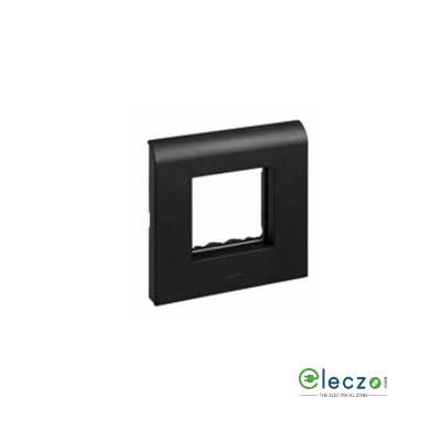 Legrand Myrius PVC Cover Plate 2 Module, Black, With Support Frame