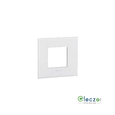 Legrand Myrius PVC Cover Plate 2 Module, White, With Support Frame