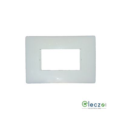Legrand Myrius PVC Cover Plate 3 Module, White, With Support Frame