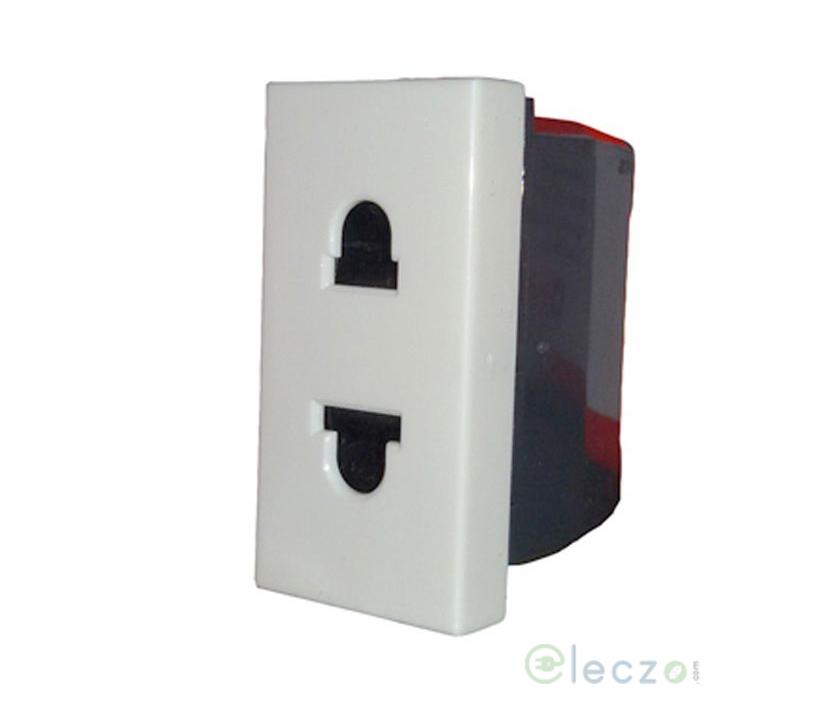Legrand Myrius 2 Pin Euro US Socket 6/16 A, 1 Module, White