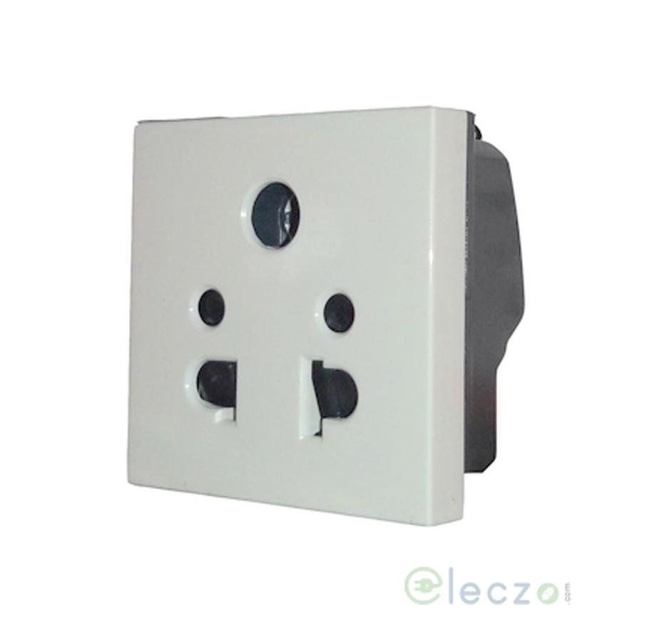 Legrand Myrius 5 Pin Universal Socket 6 A, 2 Module, White