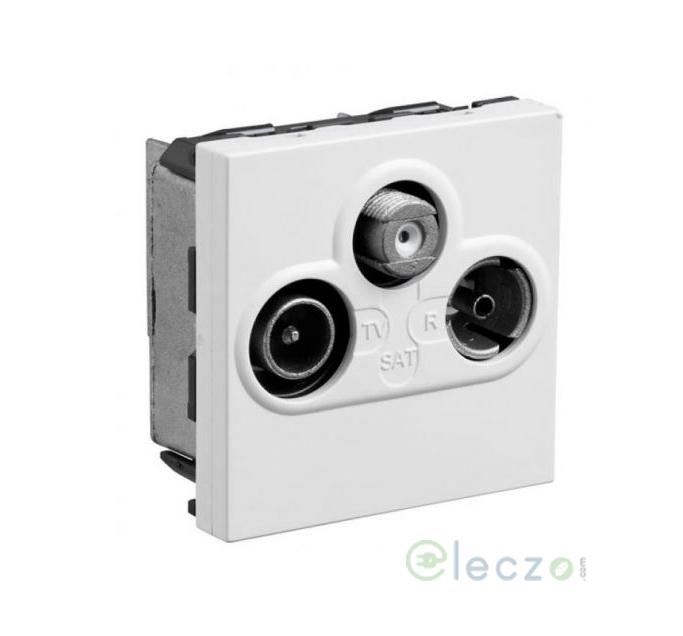 Legrand Myrius White TV/Satellite/FM Socket, 2 Module