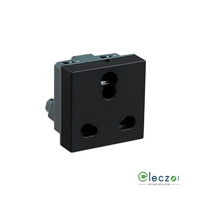 Legrand Myrius Socket 6/16 A, 2 Module, Black