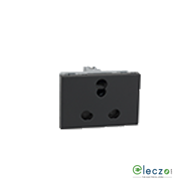Legrand Myrius Socket 6/16 A, 3 Module, Black
