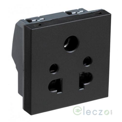 Legrand Myrius 5 Pin Universal Socket 6 A, 2 Module, Black