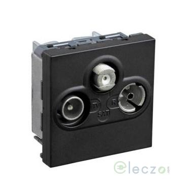 Legrand Myrius Black TV/Satellite/FM Socket, 2 Module