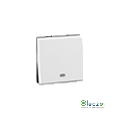 Legrand Myrius Switch 10 A, White, 2 Module, 1 Way, With Indicator
