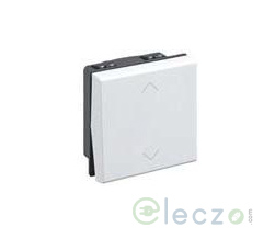 Legrand Myrius Switch 10 A, White, 2 Module, 2 Way