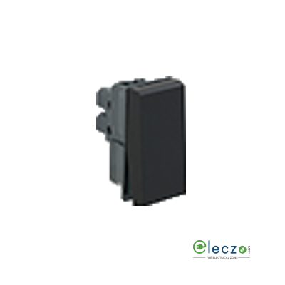 Legrand Myrius Switch 6 A, Black, 1 Module, 1 Way