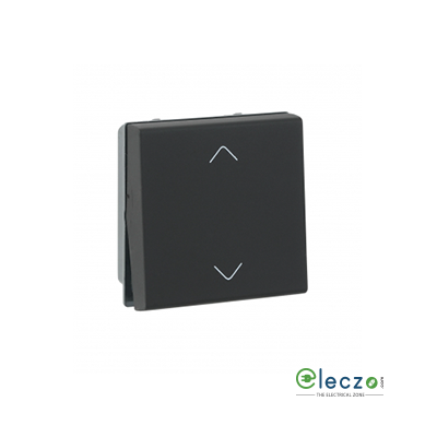 Legrand Myrius Switch 10 A, Black, 2 Module, 2 Way