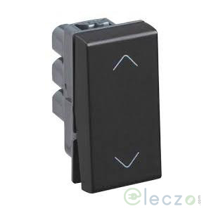 Legrand Myrius Switch 6 A, Black, 1 Module, 2 Way
