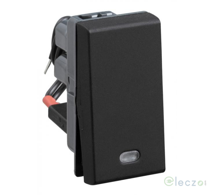 Legrand Myrius Switch 6 A, Black, 1 Module, 1 Way, With Indicator