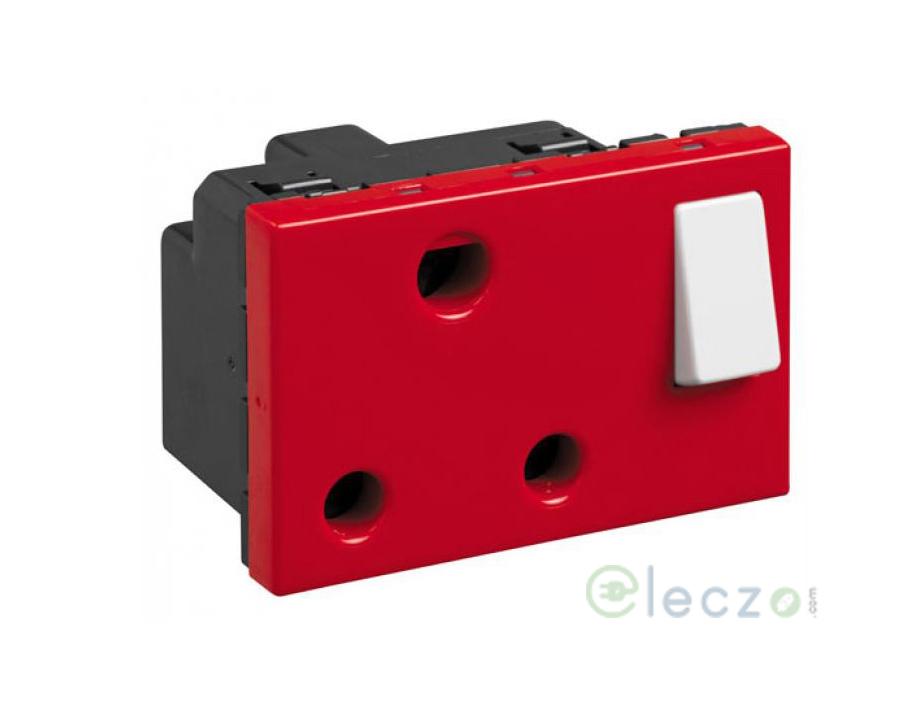 Legrand Myrius Switch Socket 16 A, 3 Module, Red