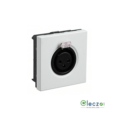 Legrand Myrius TP XLR Audio & Video Socket White, 2 Module