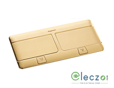 Legrand Pop Up Box 8 Module, Brushed Brass, Flush Mounting