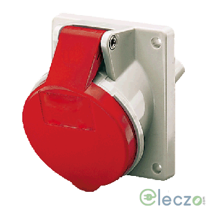 Mennekes CEE Receptacle 16 A, 3 Pole+N+E, Panel Mounted, IP 44, 400 V