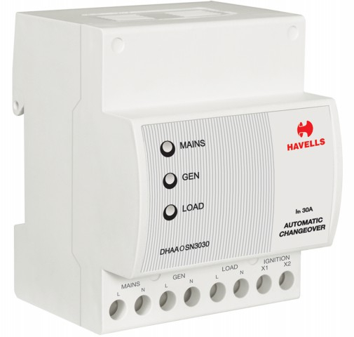Havells Euro-II Microcontroller Based Auto Changer Over EB : SPN, 30 A, DG : SPN, 30 A