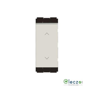 Norisys Cube Series Switch 6 A, Frost White, 1 Module, 2 Way