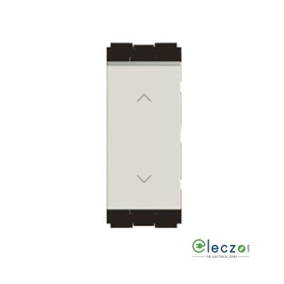 Norisys Cube Series Switch 16 A, Frost White, 1 Module, 2 Way