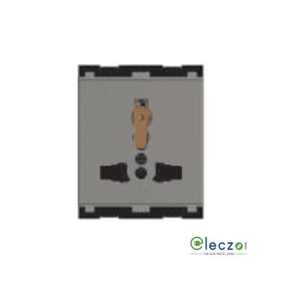 Norisys Cube Series International Multi Socket Shutter 13 A, 2 Module, Quartz Grey