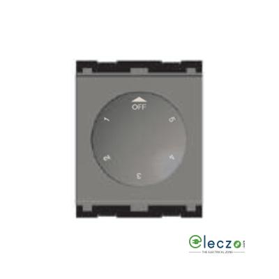 Norisys Cube Series Fan Regulator 80 W, 2 Module, Quartz Grey, 5 Step