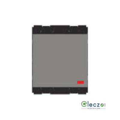 Norisys Cube Series SP Palm Switch 6 A, Quartz Grey, 2 Module, 1 Way, With Indicator