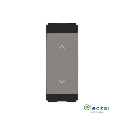 Norisys Cube Series Switch 6 A, Quartz Grey, 1 Module, 2 Way