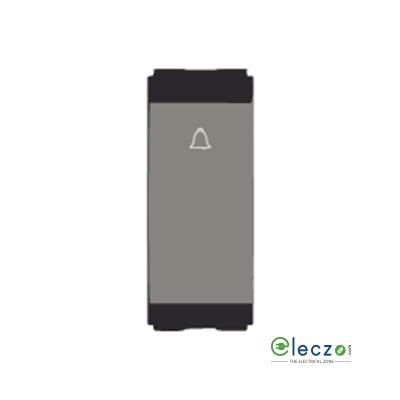 Norisys Cube Series Switch 6 A, Quartz Grey, 1 Module, Bell Push