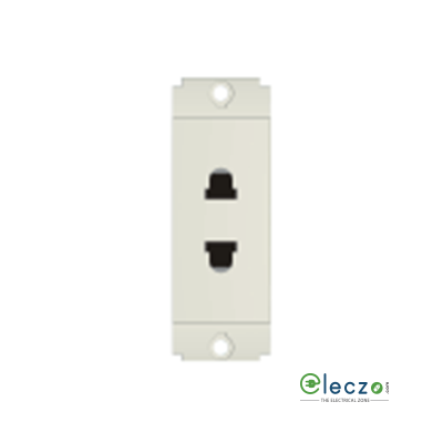 Norisys Square Series 2 Pin Socket 6 A, 1 Module, Frost White