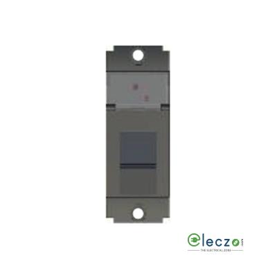 Norisys Square Series Information Socket With Shutter 1 Module, Graphite Grey, RJ 45 (Cat 6)
