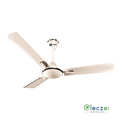 Orient Electric Gratia Ceiling Fan 1200 mm (48''), Pearl Metallic White, 3 Blade