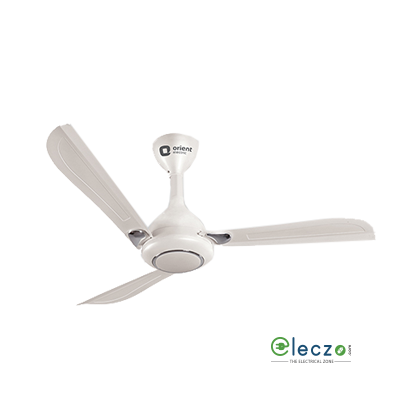 Orient Electric Oprah High Speed Ceiling Fan 1200 mm (48''), Pearl Metallic White-Chrome, 3 Blade