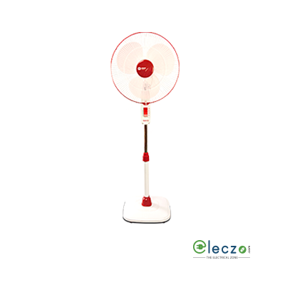 Orient Electric Stand 32 Pedestal Fan 400 mm (16''), Crimson Red-White