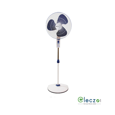 Orient Electric Stand 34 High Velocity Pedestal Fan 400 mm (16''), Azure Blue-White