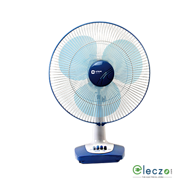 Orient Electric Desk 26 Table Fan 400 mm (16''), Azure Blue-White