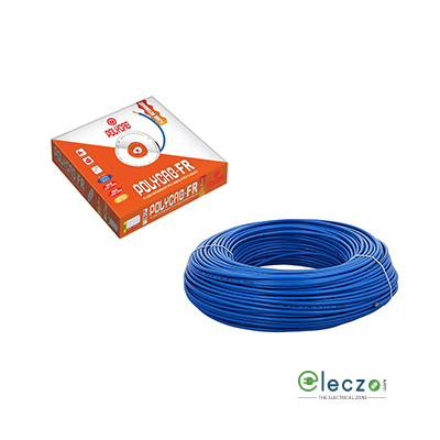 Polycab 0.75 Sq.mm, Single Core Copper Flexible Cable, Blue, PVC FR (Flame Retardant)