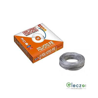 Polycab 0.75 Sq.mm, Single Core Copper Flexible Cable, Grey, PVC FR (Flame Retardant)