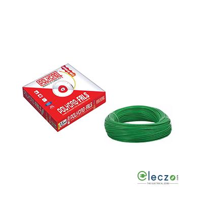 Polycab 4 Sq.mm, Single Core Copper Flexible Cable, Green, PVC FRLS (Flame Retardant Low Smoke)