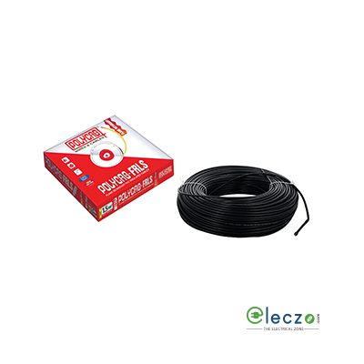Polycab 16 Sq.mm, Single Core Copper Flexible Cable, Black, PVC FRLS (Flame Retardant Low Smoke)