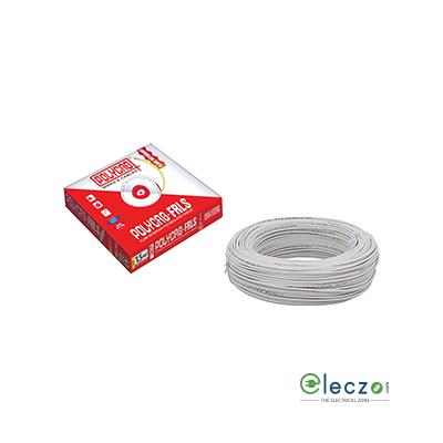 Polycab 4 Sq.mm, Single Core Copper Flexible Cable, White, PVC FRLS (Flame Retardant Low Smoke)