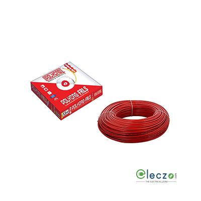 Polycab 0.5 Sq.mm, Single Core Copper Flexible Cable, Red, PVC FRLS (Flame Retardant Low Smoke)