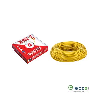Polycab 0.5 Sq.mm, Single Core Copper Flexible Cable, Yellow, PVC FRLS (Flame Retardant Low Smoke)