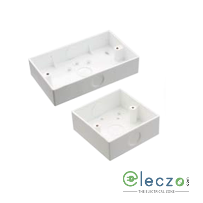Precision UPVC Surface Switch Box 6 x 3 mm, Ivory