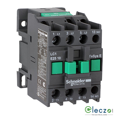 Schneider Easypact TVS Power Contactor 9 A, 3 Pole, 220 V AC, 1 NC, AC3 Duty