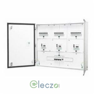 Schneider Electric Acti 9 Distribution Board 8 Way, 8 IC + 12 SI + 24 OG Module, Phase Segregated, Double Door - Metal, IP 43