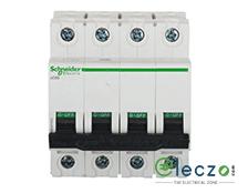 Schneider Electric Acti 9 MCB 32 A, 4 Pole, 10 kA, B-Curve
