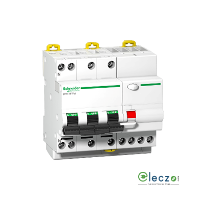 Schneider Electric Acti 9 RCBO 16 A, 3 Pole+N, 30 mA